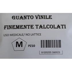 Guanti in Vinile M 10pz.